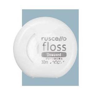 ジーシー(GC)歯科用 ルシェロ フロス アンワックス(プラーク除去専用)30m 1個 フロス/デンタルフロス カラー:ホワイト|e-dent
