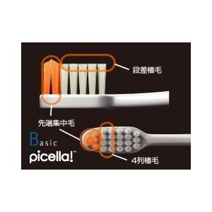 ジーシー(GC)歯科用 ルシェロ B20(B-20)ピセラ M 5本セット(5色×1本)歯ブラシ(ふつう)ハンドル 白/ホワイト ラバー全5色(アソート)|e-dent