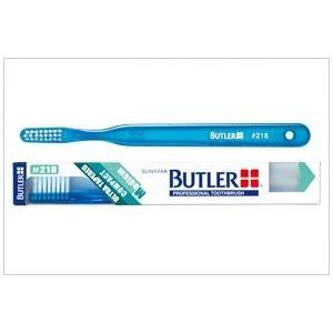 サンスター/バトラー 歯科用 バトラー歯ブラシ #218 1本 歯ブラシ ふつう コンパクトヘッド ハンドルカラー6色(アソート)一般用|e-dent