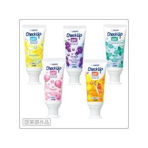 Lion/ライオン 歯科用 Check-Up gel バナナ 10本 歯磨き粉 60g 対象:6歳未満の乳幼児 チェックアップ ジェル|e-dent