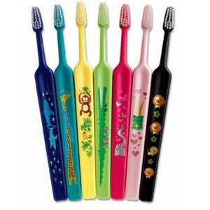 テペ ZOO( ズー)コンパクト エクストラソフト 1本 歯ブラシ 超やわらかめ 7キャラクター|e-dent