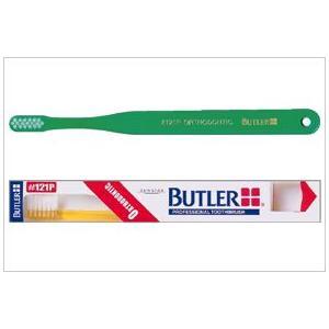 サンスター/バトラー 歯科用 バトラー歯ブラシ #121P 12本 歯ブラシ ふつう 4色(アソート)矯正用|e-dent