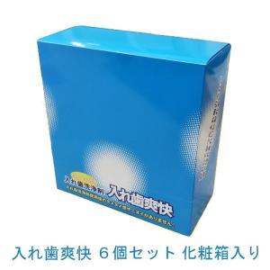 送料無料 和田精密歯研 歯科用 入れ歯爽快 6箱 化粧箱入り 3g×30包 義歯洗浄剤|e-dent