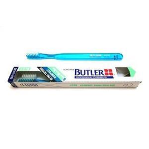 サンスター/バトラー 歯科用 バトラー歯ブラシ #216 1本 歯ブラシ やわらかめ コンパクトヘッド ハンドルカラー6色(色お任せ)|e-dent