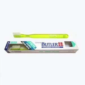 【送料値下げ!】サンスター/バトラー 歯科用 バトラー歯ブラシ #217 1本 歯ブラシ やわらかめ コンパクトヘッド ハンドルカラー6色(色お任せ)|e-dent