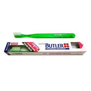 【限定在庫限り】サンスター/バトラー 歯科用 バトラー歯ブラシ #117 1本 歯ブラシ やわらかめ スーパーコンパクトヘッド (色お任せ)|e-dent