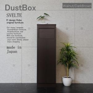 ゴミ箱 おしゃれなゴミ箱 ごみ箱 45Lスリム スリムゴミ箱 ダストBOX ウォールナット/ダークブラウン