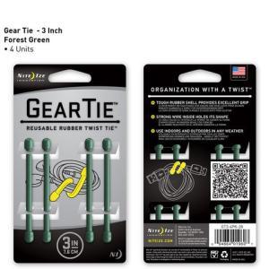 アウトレット ビニタイ GEAR TIE 3インチ 7.6cm 4本 グリーン ギアタイ GT3-4PK-28 NITE IZE メール便可|e-device