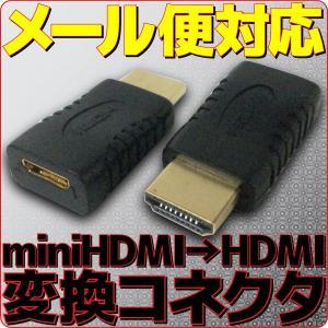 メール便可 miniHDMI → HDMI 変換 アダプタ|e-device