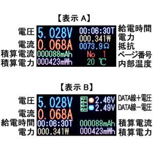 メール便可 多機能USB簡易電圧・電流チェッカー RT-USBVAC6QC ルートアール 新品 電圧計+電流計 カラー表示 QC3.0 QC2.0 最大30V 積算電流 電力 通電時間|e-device|02
