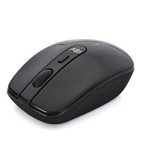 新品 お取寄品 UNIQ(ユニーク) エコノミーモデル 茶箱 2.4G 「カチッ」と音がしない サイレント ワイヤレスマウス 4ボタン DPIボタン付き ブラック BIM314GBK e-device