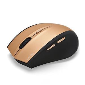 新品 お取寄品  UNIQ(ユニーク) エコノミーモデル 茶箱 2.4G ワイヤレスマウス 6ボタン DPI/インターネットボタン付き ゴールド BIM618GGD e-device