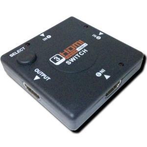 メール便送料無料 HDMI セレクター 切替器 スイッチャー 3:1 3入力 1出力 フルHD 電源不要 コンパクト HDCP対応 HDMI Ver1.3 切り替え|e-device