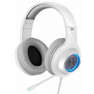 アウトレット ED-V4WH Edifier プロゲーミング用ハイスペック、ゲーミングヘッドセット 「V4」 7.1ch ホワイト|e-device