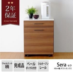 ダストボックス ペールボックス ゴミ箱SERA DUST BOX 60(WH+MBR)- セラ 60cm幅 ダストボックス - (ISSEIKI 一生紀)|e-dollar