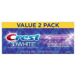 クレスト Crest 3D ホワイト 歯磨き粉 ラディアントミント 136g×2 USA最新パッケージ|e-duo-mart