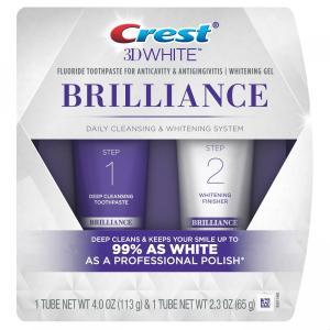 クレスト 歯磨き粉 3D ホワイトブリリアンス デイリークレンジング ホワイトニングジェルシステム 2パック|e-duo-mart