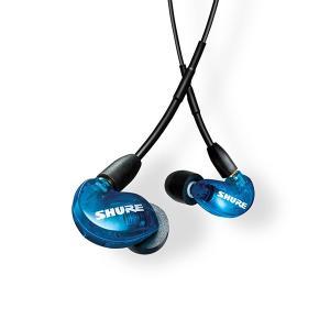 SHURE シュア SE215SPE ブルー UNIケーブル付属(SE215SPE-B-UNI-A) ケーブル着脱式 高音質 有線 カナル型 イヤホン (送料無料)|e-earphone