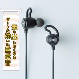 radius HP-G100BTK ブラック 重低音 Bluetooth ワイヤレス イヤホン (送料無料)|e-earphone
