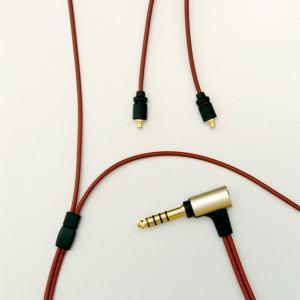 onso 4.4mm 5極プラグ-mmcxイヤホンリケーブル 1.2m (iect_03_bl4m_...