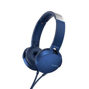 SONY ソニー MDR-XB550AP L ブルー 密閉型 重低音 ヘッドホン (送料無料)