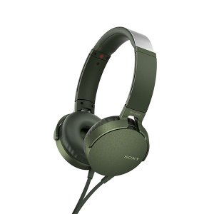 SONY ソニー MDR-XB550AP G グリーン 密閉型 重低音 ヘッドホン (送料無料)