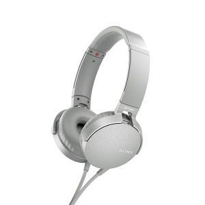 SONY ソニー MDR-XB550AP W ホワイト 密閉型 重低音 ヘッドホン (送料無料)