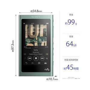 (在庫限り)ウォークマン Aシリーズ A50シリーズ 本体 SONY NW-A57 GM(グリーン)(64GB) (送料無料)|e-earphone