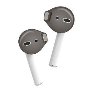 (新製品) ELECOM エレコム AirPods用イヤホンカバー ブラック (AVA-APCBK)|e-earphone