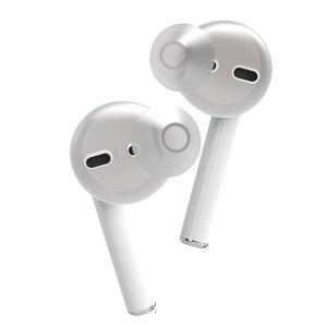 (新製品) ELECOM エレコム AirPods用イヤホンカバー (カナルタイプ) ホワイト (AVA-APICR)|e-earphone