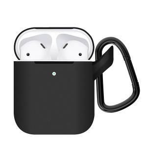 (お取り寄せ) ELECOM エレコム AirPods用シリコンケース ブラック (AVA-APSCBK)|e-earphone