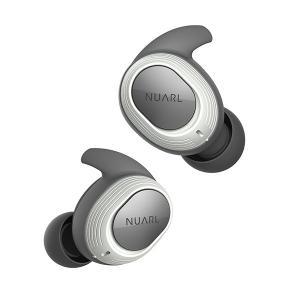 トゥルーワイヤレス イヤホン Bluetooth NUARL ヌアール NT100-WH ホワイト 高音質 左右分離型 完全ワイヤレス イヤホン|e-earphone