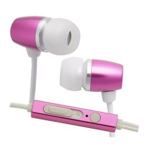 たのしいかいしゃ TA-AM3 ディープマゼンタ マイク付アルミカナルイヤホン|e-earphone