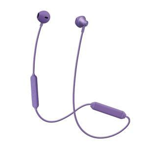 たのしいかいしゃ 『いい音』Bluetoothインナーイヤーアルミイヤホン サルビアバイオレット [TA-BT4 SVL] 高音質 イヤフォン (送料無料)|e-earphone