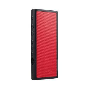 musashino LABEL NW-ZX300用フルアーマケース カーボンレッド (送料無料)|e-earphone