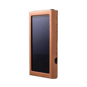 musashino LABEL NW-ZX300用プレミアムレザーケース キャメル (送料無料)|e-earphone