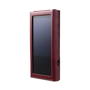 musashino LABEL NW-ZX300用プレミアムレザーケース ワインレッド (送料無料)|e-earphone