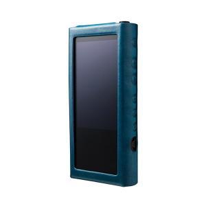 musashino LABEL NW-ZX300用プレミアムレザーケース ブルー (送料無料)|e-earphone