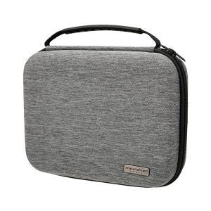 (新製品) musashino LABEL キャリングバッグ セミハードタイプ4room グレー【CP-EPLC4/GL】 (送料無料)|e-earphone