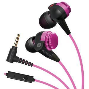 ELECOM EHP-CS200MXPN ピンク ハンズフリー通話 リモコン付き カナル型 スマホ用 イヤホン|e-earphone
