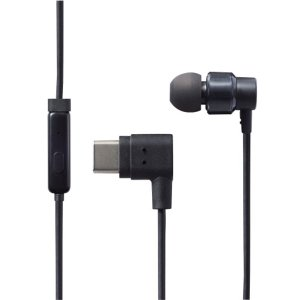ELECOM エレコム EHP-CAMCS100BK ブラック (USB Type-C用マイク付き片耳イヤホン) 高音質 カナル型 LINE通話 ハンズフリー 片耳 有線 イヤホン|e-earphone