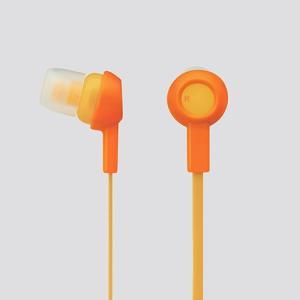 (お取り寄せ) ELECOM エレコム EHP-C3520DR オレンジ かわいい 女性向け カナル型 イヤホン イヤフォン|e-earphone