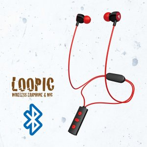 ワイヤレス Bluetooth イヤホン ALPEX BTN-A2500R レッド e-earphone