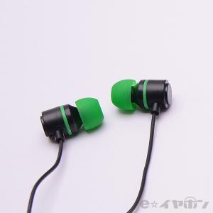 イヤホン カナル型 有線 両耳 ALPEX HSE-A500BG ブラックグリーン|e-earphone