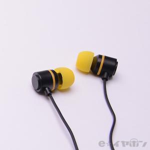 イヤホン カナル型 有線 両耳 ALPEX HSE-A500BYE ブラックイエロー|e-earphone