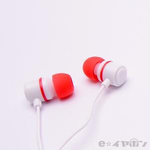 イヤホン カナル型 有線 両耳 ALPEX HSE-A500WR ホワイトレッド|e-earphone