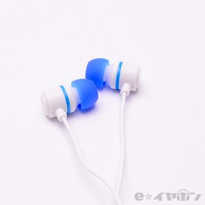 イヤホン カナル型 有線 両耳 ALPEX HSE-A500WB ホワイトブルー|e-earphone