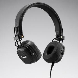 Marshall マーシャル MAJOR III Black ブラック 密閉型 ポータブル おしゃれ ヘッドホン (送料無料)|e-earphone