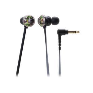 女性向け 有線 カナル型 イヤホン audio-technica オーディオテクニカ ATH-CKF77-CM カモフラージュ|e-earphone