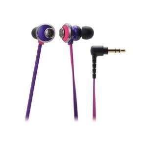 女性向け 有線 カナル型 イヤホン audio-technica オーディオテクニカ ATH-CKF77-PPL ピンクパープル|e-earphone
